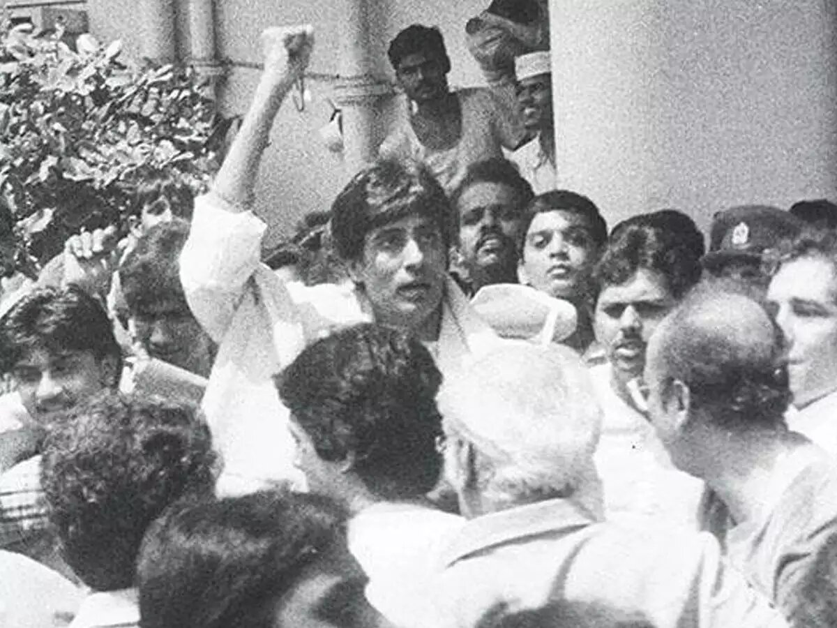 rarest video and pictures of amitabh bahcchan after coolie accident
