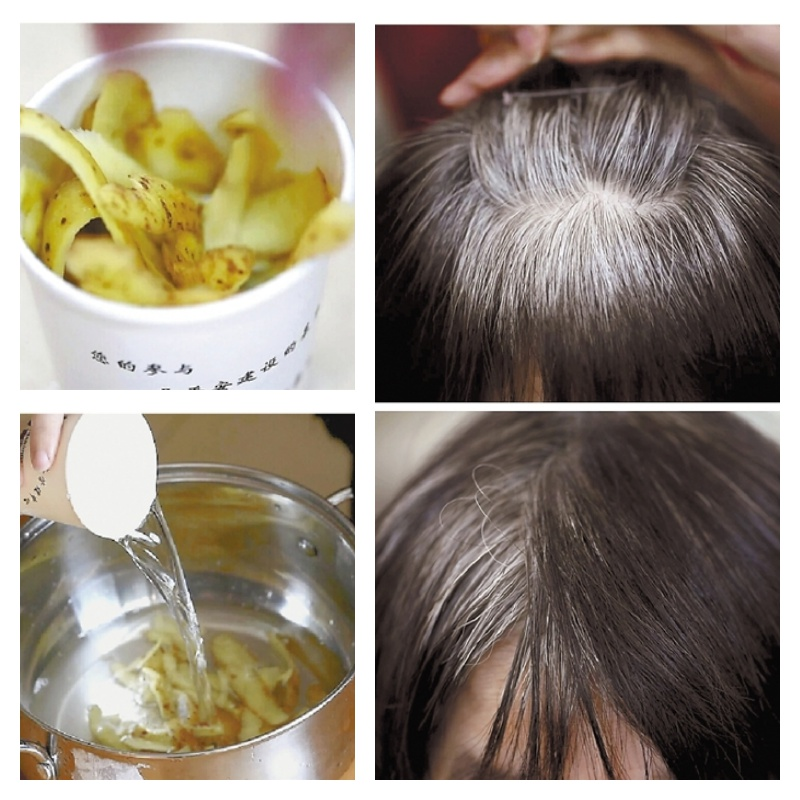how to use potato for grey hair